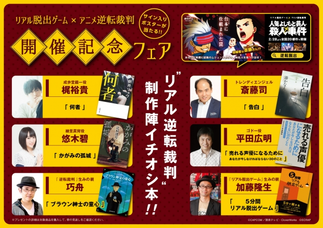 Real escape game × Animation inversion trial holding commemoration fair
